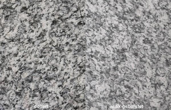 Terrassenplatten Granit Serizzo gebürstet