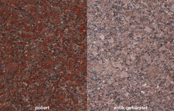 Terrassenplatten Granit New Imperial Red