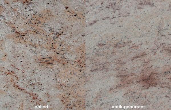 Terrassenplatten Granit Shivakashi gebürstet