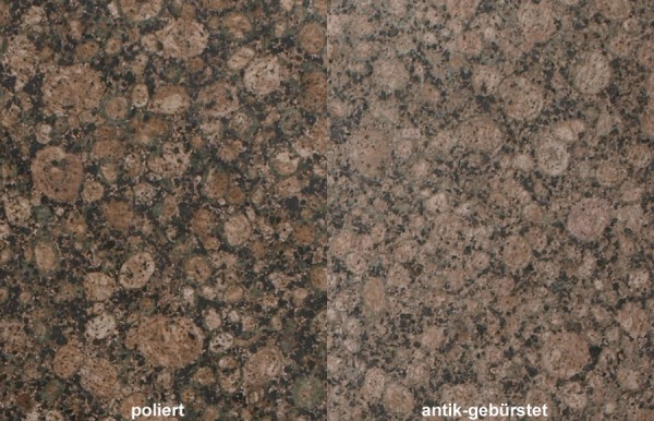 Terrassenplatten Granit Baltic Brown gebürstet