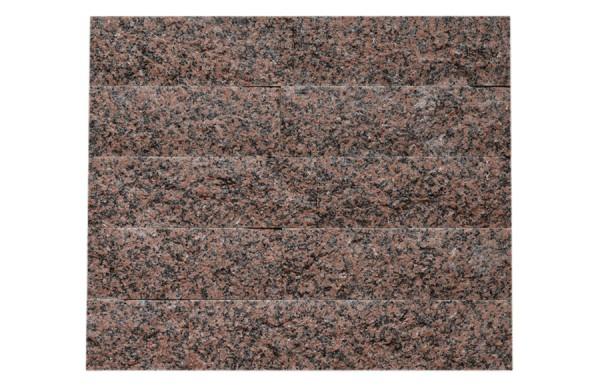 Granit-Verblender spaltrau Balmoral Rosso