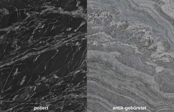 Terrassenplatten Granit Black Forest 1
