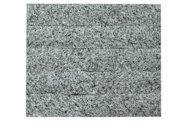 Granit-Verblender Bianco Sardo spaltrau