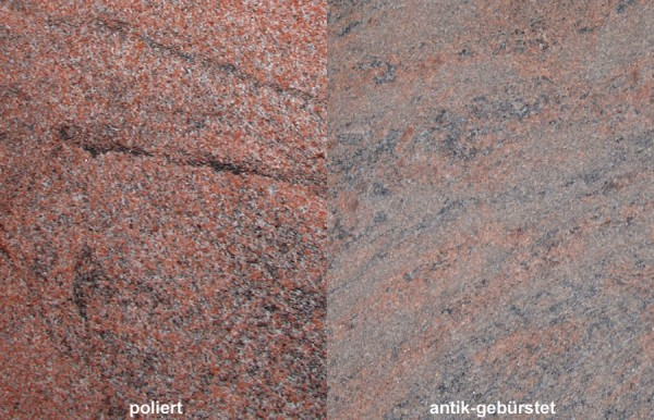 Terrassenplatten Granit Multicolor Rot th