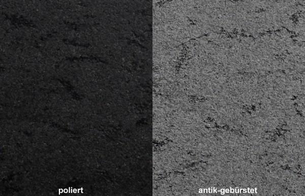 Terrassenplatten Granit Black Nest gebürstet