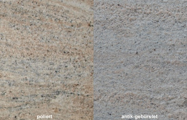 Terrassenplatten Granit Colonial Ivory gebürstet