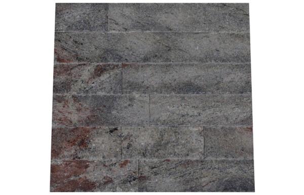 Granit Verblender Silver Sparkle spaltrau