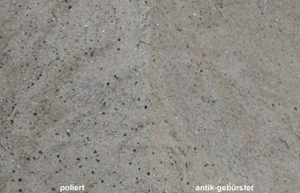 Terrassenplatten Granit Kashmir White gebürstet