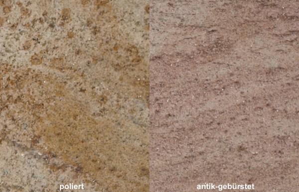 Terrassenplatten Granit Ivory Gold gebürstet