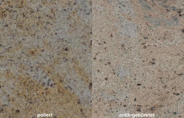 Terrassenplatten Granit Kashmir Gold gebürstet