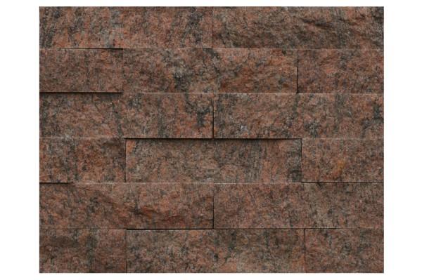 Granit-Verblender Multicolor Rot spaltrau