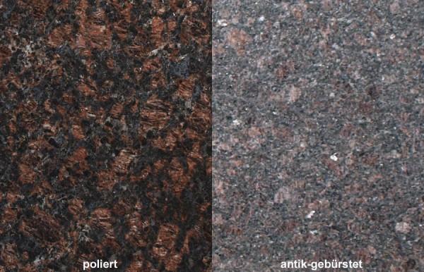 Terrassenplatten Granit Tan Brown gebürstet