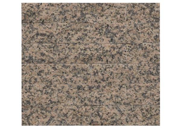 Granit-Verblender Rosa Porrino spaltrau