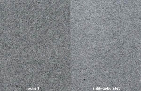 Terrassenplatten Granit Sira Grey gebürstet