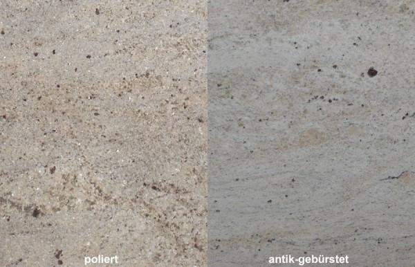 Terrassenplatten Granit Ivory Cream gebürstet
